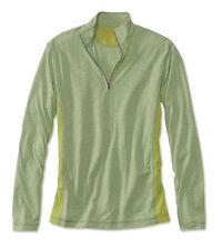 Mens Orvis Trout Bum 0854 Wicking Quarter-Zip Shirt XL Green Pullover NWT
