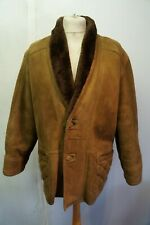 VINTAGE GENTLEMAN'S LUXURIOUS LEATHER SHEEPSKIN COAT JACKET SIZE 50 (UK L)