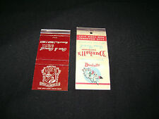 2-Bruno's Pen & Pencil & Dunhill Restaurants, NYC used match covers