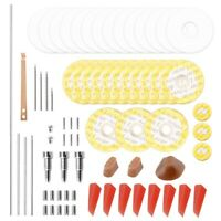 70Pcs Flute Repair Parts Set Complete Tools Flute Sound Hole Mat Pad Roller S3K6