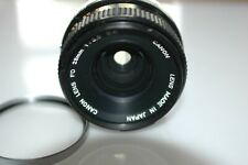 Canon FD 28mm 3.5 S.C. in good condition + cap + B+W 010 filter