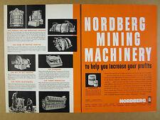 1963 Nordberg Mining Mine Machinery crushing grinding hoisting vintage print Ad