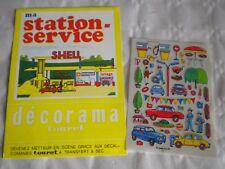 Vintage à Frotter Transferts Set Autocollants SHELL station service Décorama Touret 1970 S