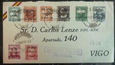 1938 Pontevedra Spain Civil War Military Censored Cover To Vigo