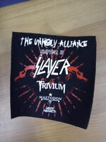 Slayer patch The Unholy Alliance tour