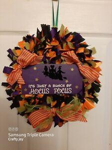 hocus pocus rag wreath