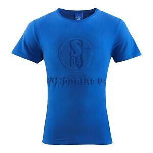 FC Schalke 04 T-Shirt Prägung blau Gr. S - 4XL