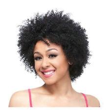Women's Afro Kinky Curls Short Wigs Cornrows Crochet Jerry Curly Style Black Wig