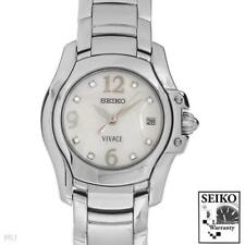 SEIKO VIVACE Collection New Ladies Date Watch With Genuine Clean Diamonds