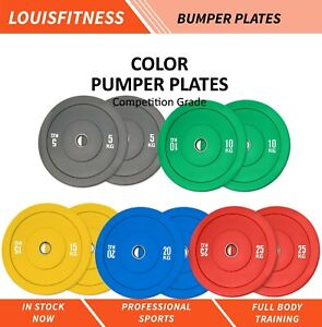 IN STOCK Olympic Colour Bumper Weight Plates Home Gym Lifting 5kg to 25kg