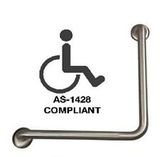 Stainless Steel Toilet Ambulant Safety Right Angle Grab Rail