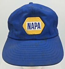 Vtg NAPA Auto Parts Patch Front Blue Made in USA Snapback Hat Cap