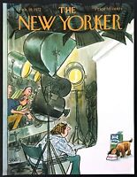 1972 TV Dog Food Commercial art Charles Saxon Feb 19 New Yorker Mag COVER ONLY
