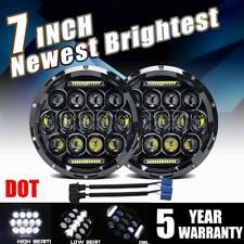2PC 7 Inch Round LED Headlight Halo for JEEP Wrangler JK TJ LJ Unlimited Rubicon