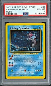 2001 Pokemon Neo Revelation SHINING GYARADOS #65 Secret Rare Holo PSA 6 EX/MT