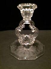 Cambridge Glass Company Gloria etched Candle Holder Keyhole