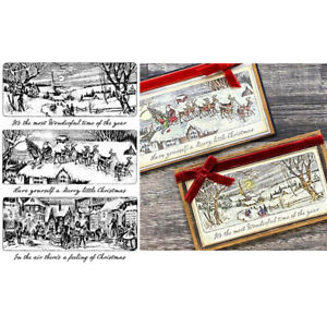 Holiday Scenes Silicone/Clear Stamps Diy Scrapbooking Handmade Crafts Paper Card