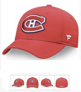 "Montreal CANADIANS Fanatics Stretch Fit Flex Red (L / XL) Hat ""NEW!"""