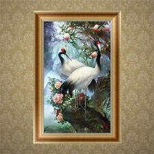 DIY 5D Diamond Embroidery Crane Painting Cross Stitch Craft Home Decor