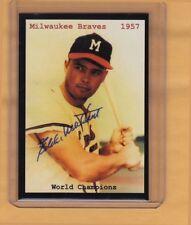 Eddie Mathews '57 Milwaukee Braves team card – Superior serial numbered /500