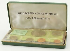 1971 Malawi 6 Coin Decimal Coinage Specimen Set - With Display Box *816