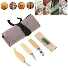 5x Wood Carving Knives Set Woodworking Tools Spoon Kit Knfie Whittling Carpenter
