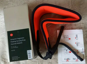 ORANGE LEICA FLOATING CARRYING STRAP - 42163 LEICA TELEVID - BOXED
