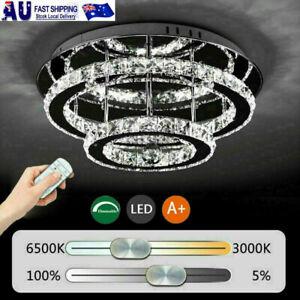 Modern Luxury Crystal 36W LED Ceiling Light Flush Mount Chandelier Bedroom light