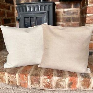 1090. Plain Beige Jacquard Cushion Cover. Various sizes