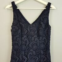 [ RALPH LAUREN ] Womens Navy Lace Evening Dress NEW | Size AU 8 or US 4