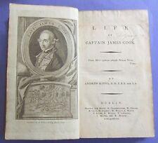 1788 CAPTAIN JAMES COOK DUBLIN EDITION SEA VOYAGES TRAVELS SHIPS ANDREW KIPPIS