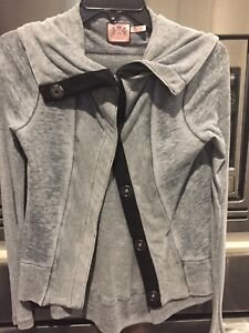 Juicy Couture new Gray Jacket Size P/Small-med super soft