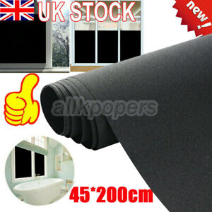 """Blackout Static Cling Window Film UV Protection 18*79"""" for Privacy To Block Sun"""
