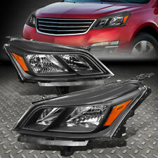 For 13-17 Chevy Traverse Black Housing Amber Corner Signal Pair Headlight Lamps