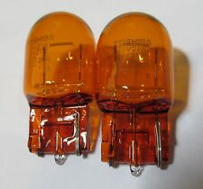 PAIR (2) TOSHIBA WY21W 12V 21W T20 AMBER TURN SIGNAL/ LIGHT BULB/ LAMP BMW E46