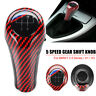 5 Speed Carbon Fiber Gear Shift Knob Shifter Manual For BMW E81 E90 E91 92 X1 X3