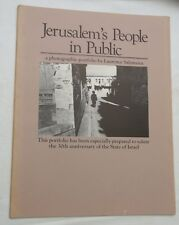 1978, Jerusalem's People in Public, a Portfolio of 7 Photos by Laurence Salzmann
