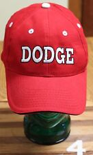 HEADLINER, DODGE RED COTTON CAP, ADJUSTABLE, GREAT SHAPE!!