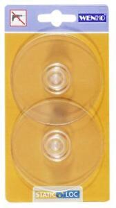 WENKO Static-Loc Adapter Transparent für Küche Premium/Classic, ohne bohren
