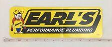 Earl's Performance 36-282 Decal, Yellow/Black/White, Earl's Plumbing Logo, Each