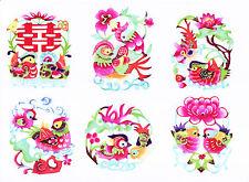 Paper Cuts Pair Mandarin Duck Set 10 colorful Single pieces Zhou 1 packet Lot