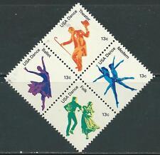 USA - MNH Block of 4  Stamps - 13c American Dance