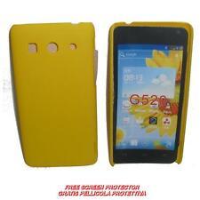 Pellicola+custodia BACK COVER RIGIDA GIALLA per Huawei Ascend G525 G520 (C2)
