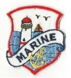 Marine Phare Ancre Broderie Patch