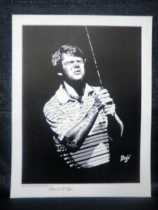 Edward Roge Tom Watson Golf Open Edition Lithograph