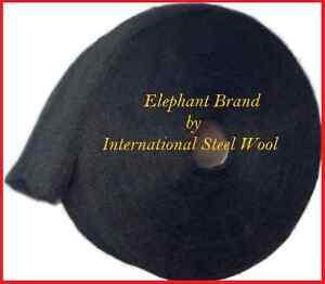 10 lb Case Steel Wool Rolls, Grade #00000 (5/0) PRO GRADE, THE FINEST