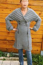 manteau robe laine gris MC PLANET T 38 neuf étiquette HAUT DE GAMME valeur 258€