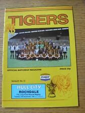 24/11/1981 Hull City V Rochdale [ Association Cup ripetizione ] (articolo in ottime condizioni, no