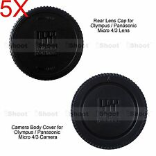5x M4/3 Rear Lens Cap +Micro 4/3 Camera Body Cover for Olympus PEN EP5 EPL1 EPL3