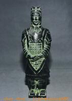 "8"" Ancien Chine Bronze Ware Dynastie Palais Terra Cotta Guerriers Statue"